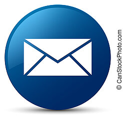 Email icon blue round button