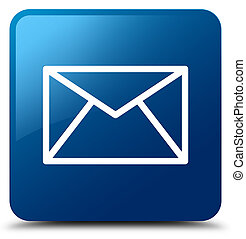 Email icon blue square button