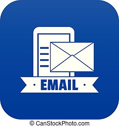 Email icon blue vector
