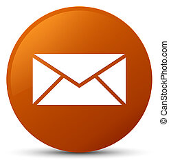 Email icon brown round button