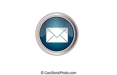 Email icon button round color