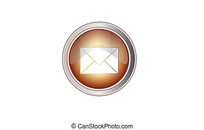 Email icon button round color yellow quartz