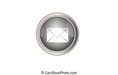 Email icon button round gray