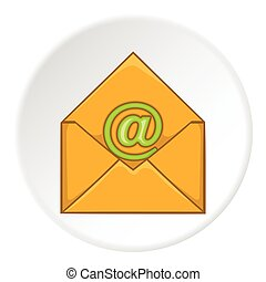 Email icon, cartoon style