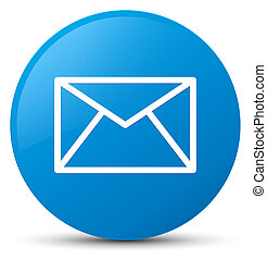 Email icon cyan blue round button