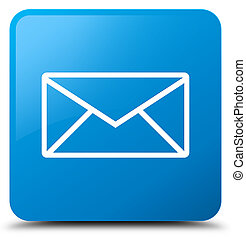 Email icon cyan blue square button