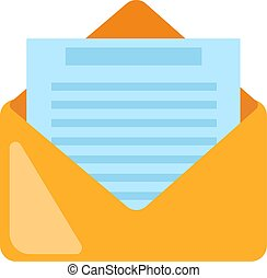 Email icon. E-mail symbol flat vector graphic illustration isolated
