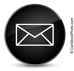 Email icon elegant black round button
