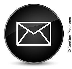 Email icon elegant black round button