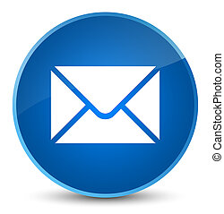 Email icon elegant blue round button