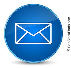 Email icon elegant blue round button