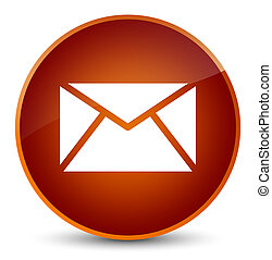 Email icon elegant brown round button