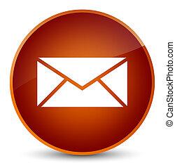 Email icon elegant brown round button