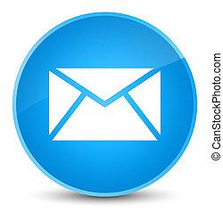 Email icon elegant cyan blue round button