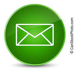 Email icon elegant green round button