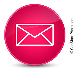Email icon elegant pink round button