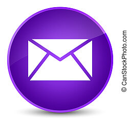 Email icon elegant purple round button