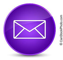 Email icon elegant purple round button