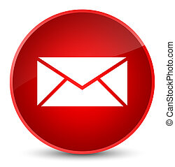 Email icon elegant red round button