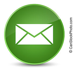 Email icon elegant soft green round button