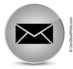 Email icon elegant white round button