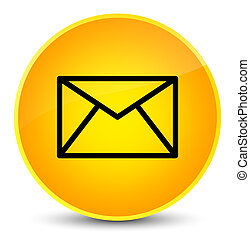 Email icon elegant yellow round button