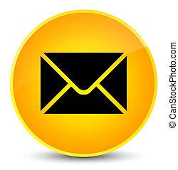 Email icon elegant yellow round button