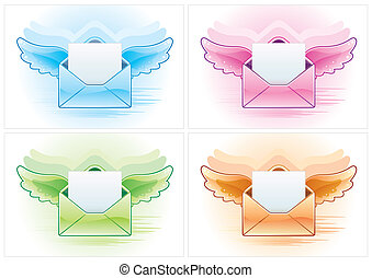 email icon - email vector icon set