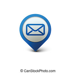 email icon - vector email icon web design element.