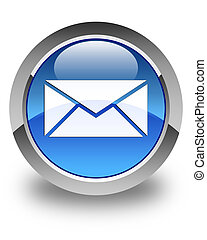 Email icon glossy blue round button 2