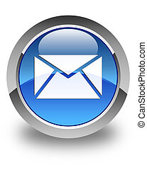 Email icon glossy blue round button 3