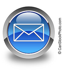 Email icon glossy blue round button 5