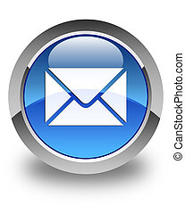 Email icon glossy blue round button