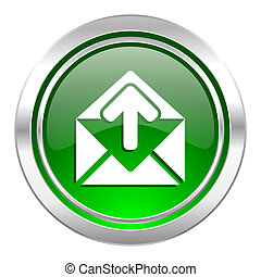 email icon, green button, post message sign