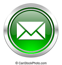 email icon, green button, post sign