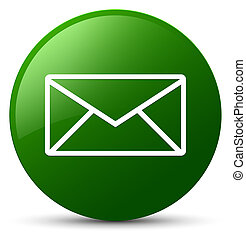Email icon green round button