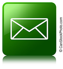 Email icon green square button