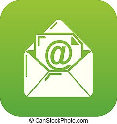 Email icon green vector