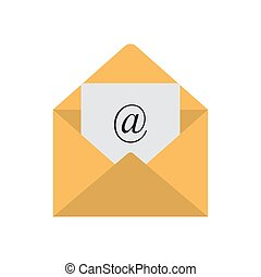 Email icon. Mail envelope vector icon isolated on white background