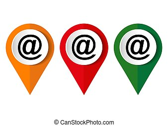 Email icon on a white background. Vector illustration.