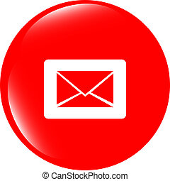 Email icon on glossy round button
