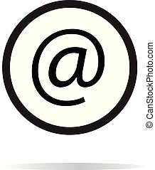 email icon on white background. email sign.