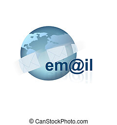 Email Icon on white
