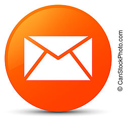 Email icon orange round button