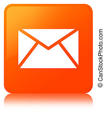 Email icon orange square button