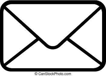 Email icon. Outline email icon isolated on white background Vector illustration