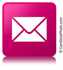 Email icon pink square button