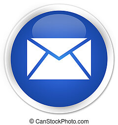 Email icon premium blue round button