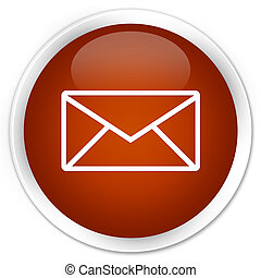 Email icon premium brown round button