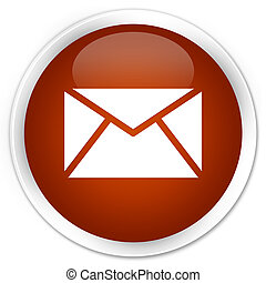 Email icon premium brown round button